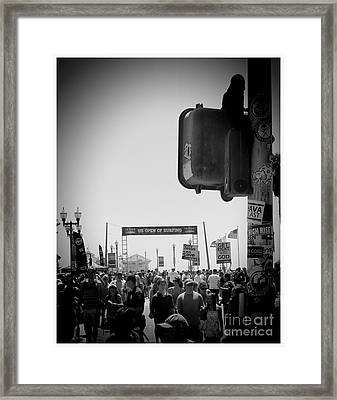 Us Open Of Surfing Framed Print by RJ Aguilar