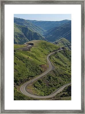 Usa, Washington, Asotin County, Mountain Road Framed Print by Gary Weathers
