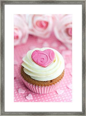 Valentine Cupcake Framed Print by Ruth Black