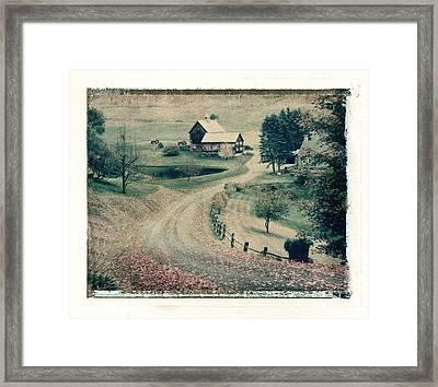 Vermont Farm Framed Print