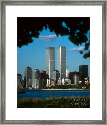 View From Liberty State Park Framed Print