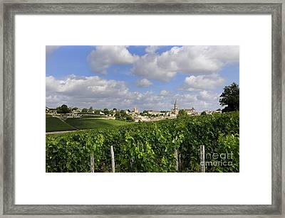 Village And Vineyard Of Saint-emilion. Gironde. France Framed Print by Bernard Jaubert