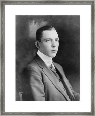 Vincent Astor 1891-1959, Late Husband Framed Print by Everett