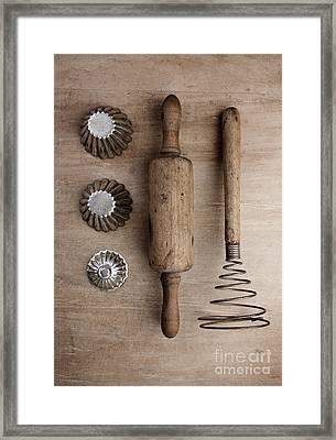 Vintage Cooking Utensils Framed Print by Nailia Schwarz
