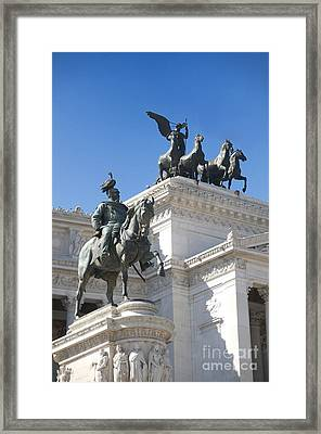 Vittoriano. Monument To Victor Emmanuel II. Rome Framed Print