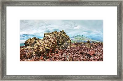 Volcano Batur Framed Print by MotHaiBaPhoto Prints