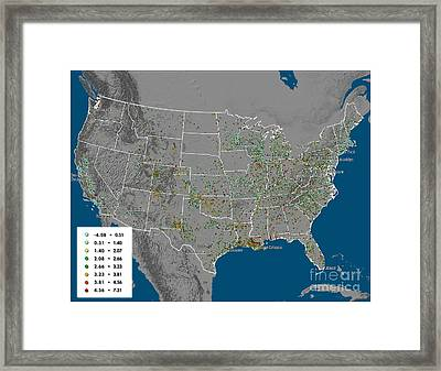 Vulcan Co2 Maps Framed Print by Nasa