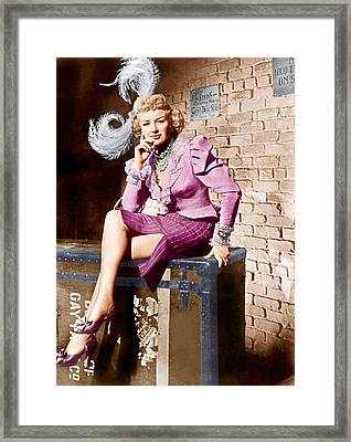 Wabash Avenue, Betty Grable, 1950 Framed Print