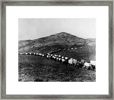 Wagon Train Framed Print