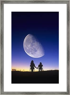 Waning Gibbous Moon Framed Print by David Nunuk