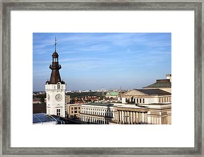 Warsaw Cityscape Framed Print by Artur Bogacki