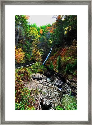 Watkins Glen State Park New York   Framed Print by Puzzles Shum