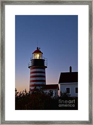 West Quoddy Head Lighthouse Framed Print by John Greim