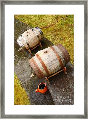 Wine Barrels Framed Print by Gaspar Avila