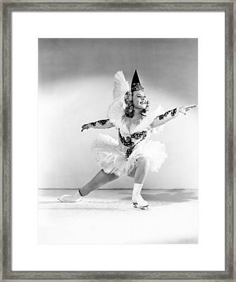 Wintertime, Sonja Henie, 1943 Framed Print by Everett