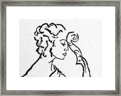 Woman Framed Print by Natalya A