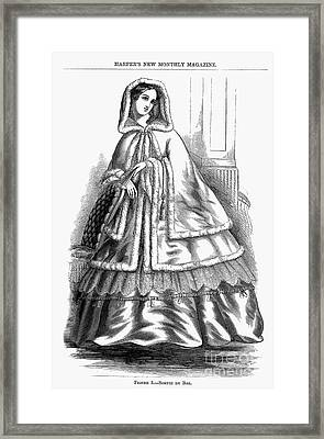 Womens Fashion. C1850s Framed Print