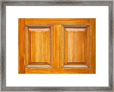 Wooden Panels Framed Print by Tom Gowanlock