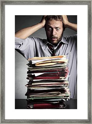 Work Stress, Conceptual Image Framed Print by Mauro Fermariello
