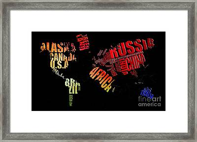 World Map Framed Print by The DigArtisT
