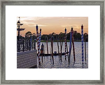 World Showcase - Italy Pavillion Framed Print by AK Photography