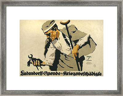 World War I, German Poster Shows Framed Print by Everett