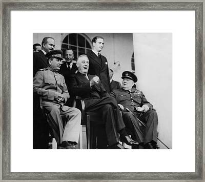 World War II. Soviet Premier Josef Framed Print by Everett
