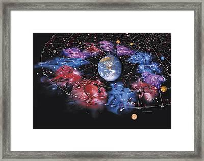 Zodiac Signs Framed Print by Detlev Van Ravenswaay