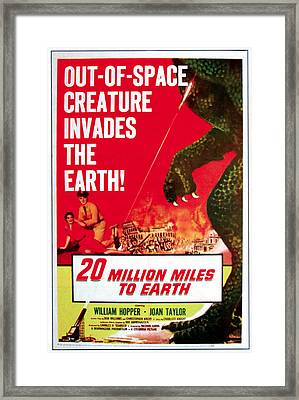 20 Million Miles To Earth, Poster Art Framed Print by Everett