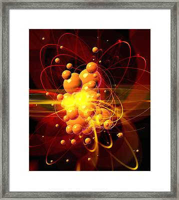 Subatomic Particles Abstract Framed Print by Mehau Kulyk