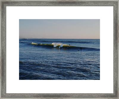 Surfers Make The Ocean Better Series Framed Print