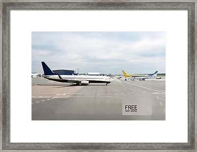 Tallinn Airport In Estonia Framed Print by Jaak Nilson