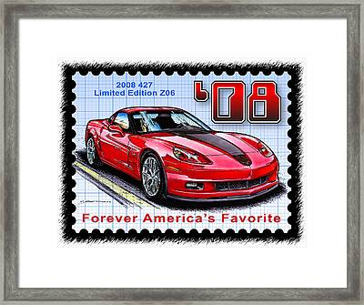 2008 427 Limited Edition Z06 Framed Print