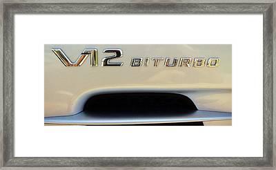 2009 Biturbo V12 Mercedes Framed Print