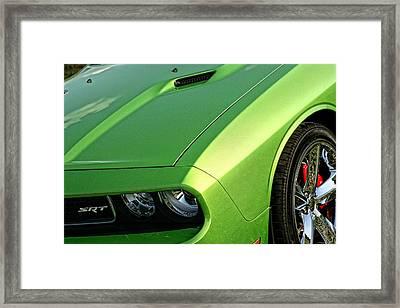 2011 Dodge Challenger Srt8 - Green With Envy Framed Print by Gordon Dean II