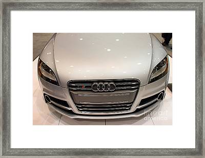 2012 Audi Tts . Silver . 7d9552 Framed Print by Wingsdomain Art and Photography