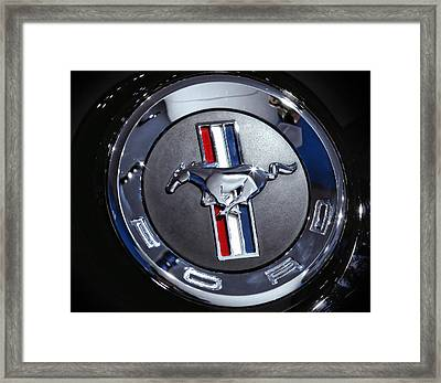 2012 Ford Mustang Trunk Emblem Framed Print