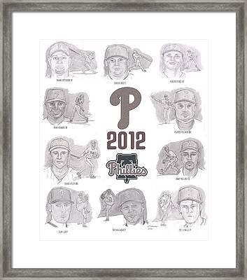 2012 Phightin' Phils Framed Print by Chris  DelVecchio
