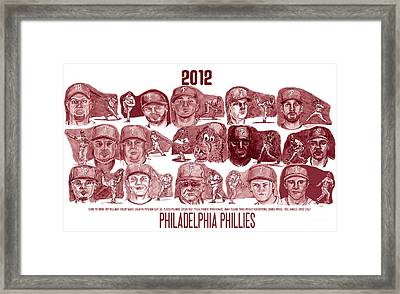 2012 Philadelphia Phillies Framed Print by Chris  DelVecchio