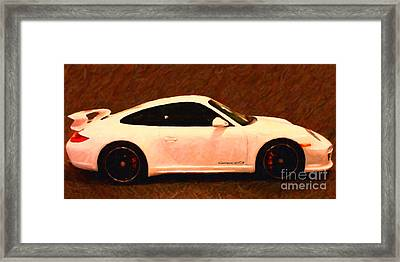 2012 Porsche 911 Carrera Gts Framed Print by Wingsdomain Art and Photography