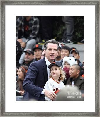 2012 San Francisco Giants World Series Champions Parade - Gavin Newsom - Dpp0005 Framed Print