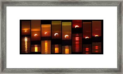 2012 Solar Eclipse Framed Print by Elizabeth Hart