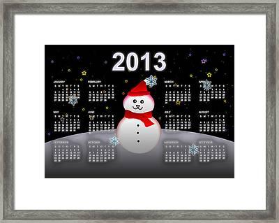 2013 Calendar Framed Print by Martin Marinov