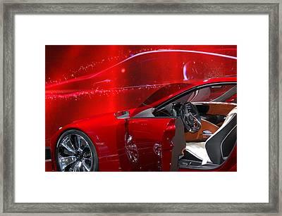 2013 Lexus L F - L C Framed Print by Randy J Heath