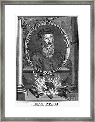 John Wycliffe (1320?-1384) Framed Print