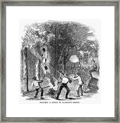 New York: Draft Riots 1863 Framed Print by Granger