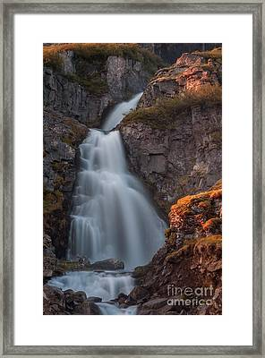 Waterfall Iceland Framed Print