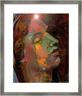 21st Century Madona Framed Print by William Sosa