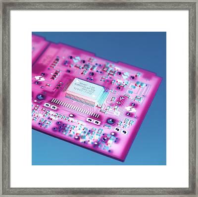 Circuit Board Framed Print by Tek Image