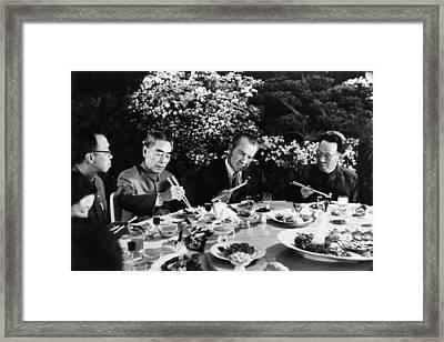 Nixon Presidency.  Us President Richard Framed Print